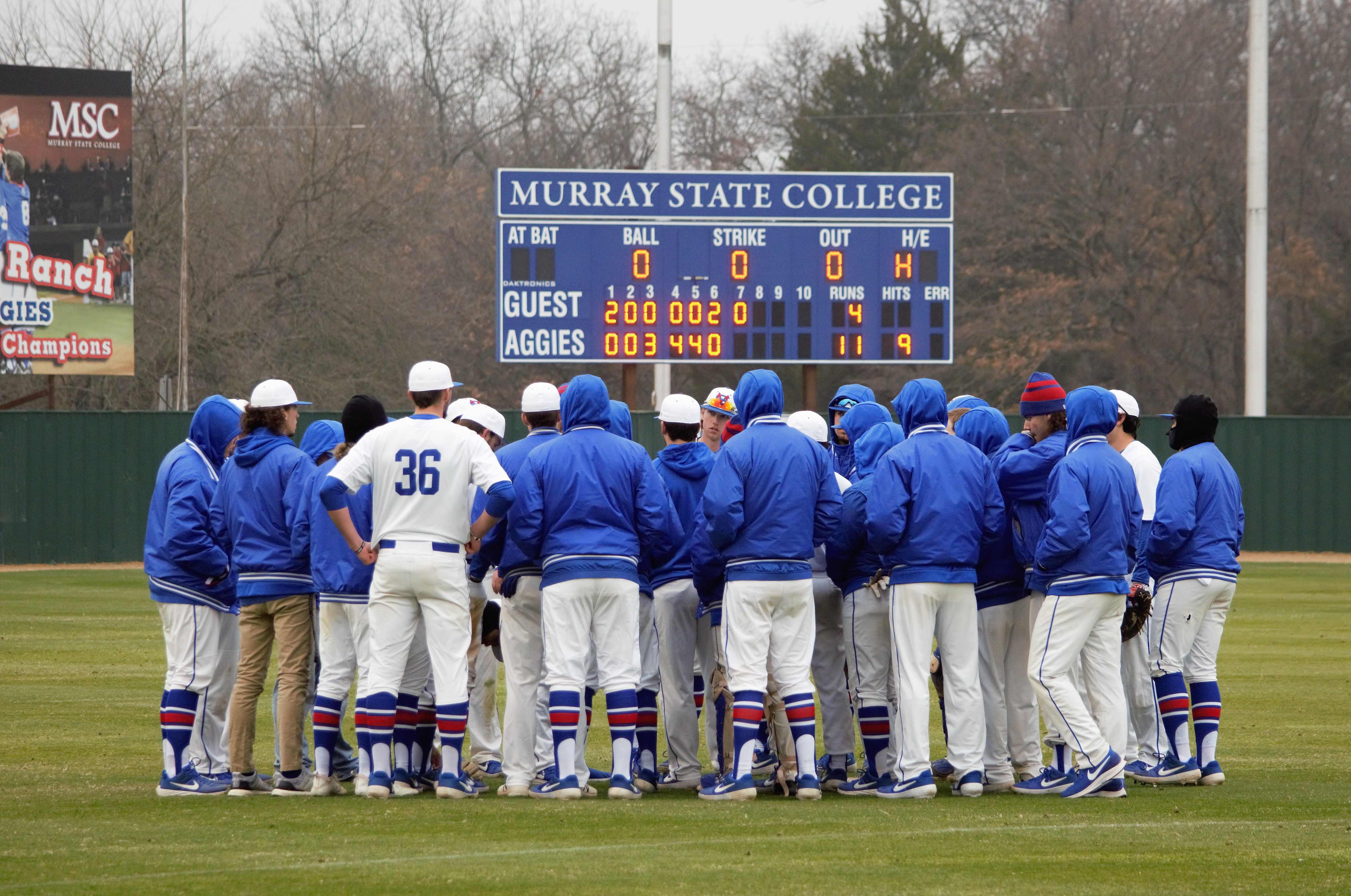MSC Baseball falls to Seminole State in rain delayed game, February 9