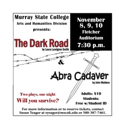 Murray State College sets dates for fall plays, November 8th-10th