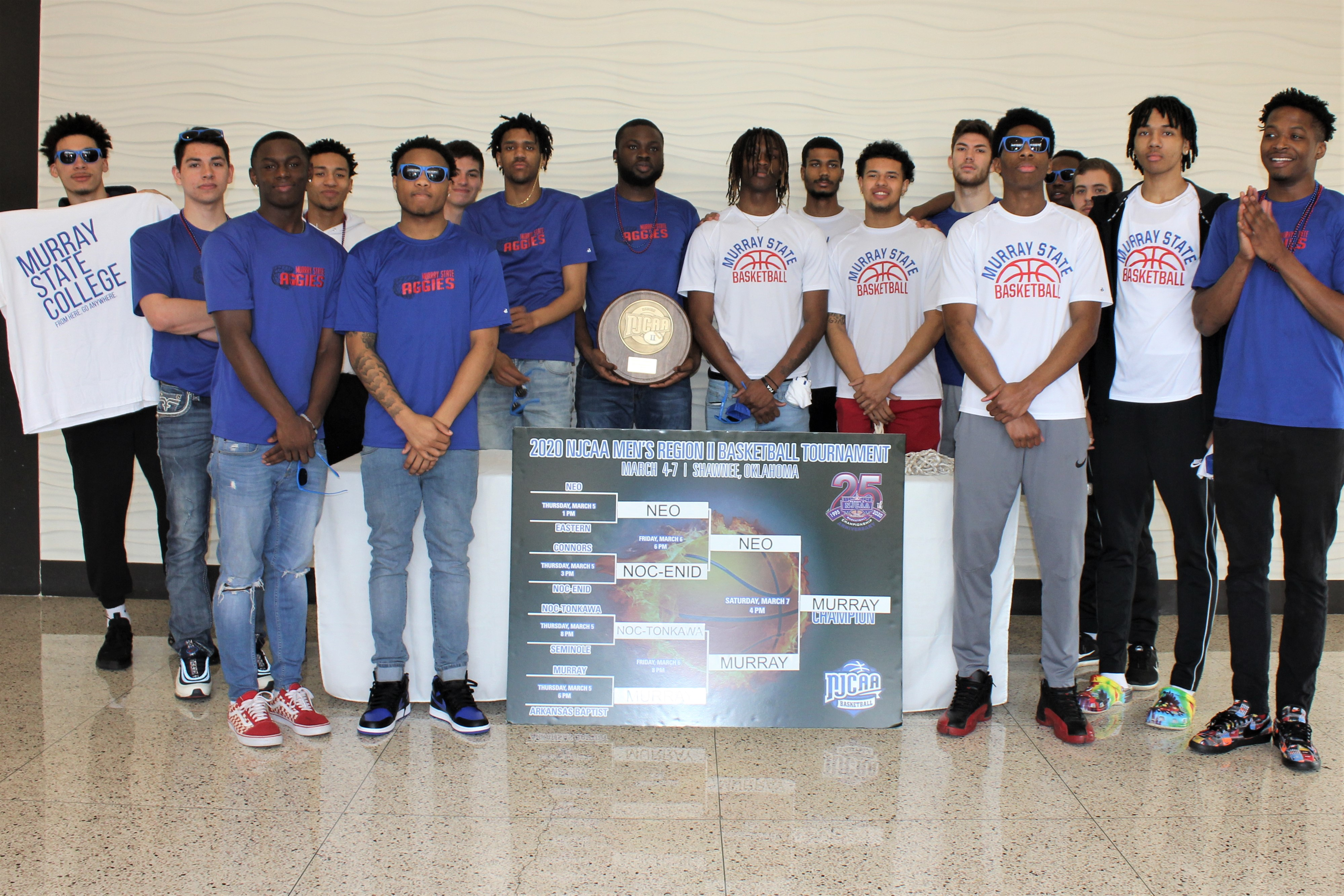 Aggie men's basketball win three-straight to secure Region II Tournament Championship