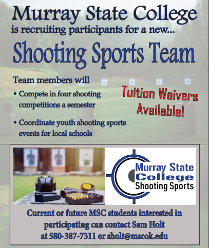 Murray State College recruiting participants for collegiate shooting sports team